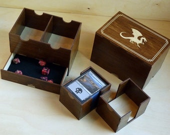 Magic Dragon 200 Card Deck and Dice Box