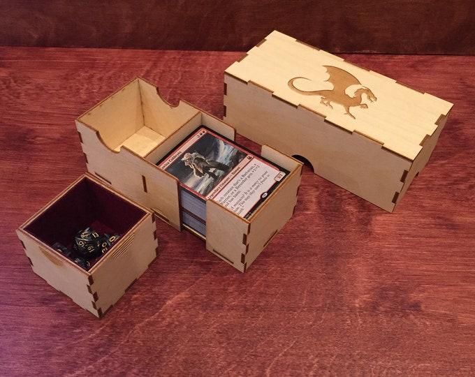 Custom 100 Card Deck and Dice Box