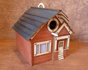 Craftsman Style Red Birdhouse