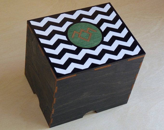 Twin Peaks inspired 2 Jar Stash Box with Rolling Tray