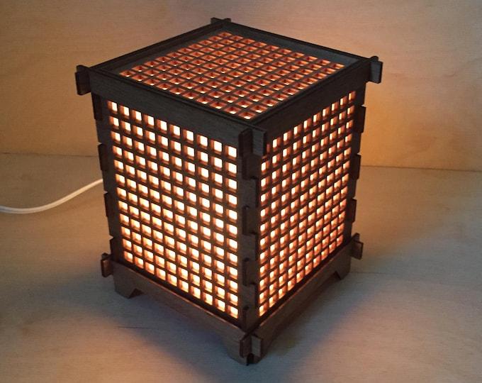 "Square Grid 6"" Shoji Lamp"