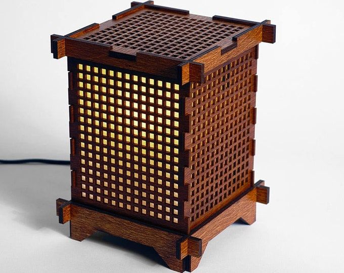 Square Grid Shoji Lamp