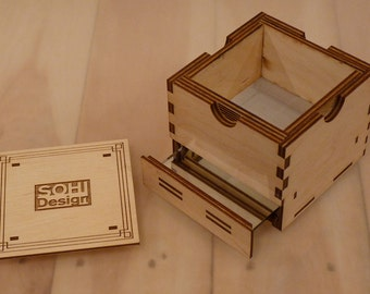 Wooden Kief Box - Pollen Sifter