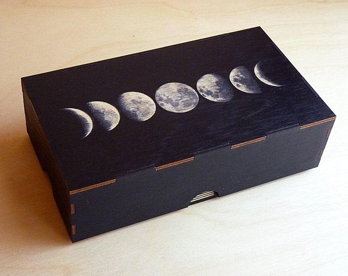 Moon Phase Two Jar Stash Box