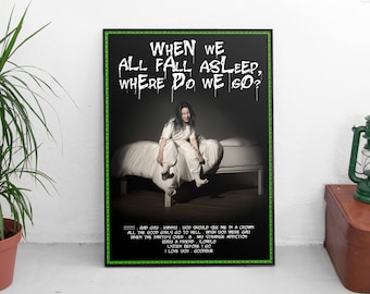 Billie Eilish Poster Etsy