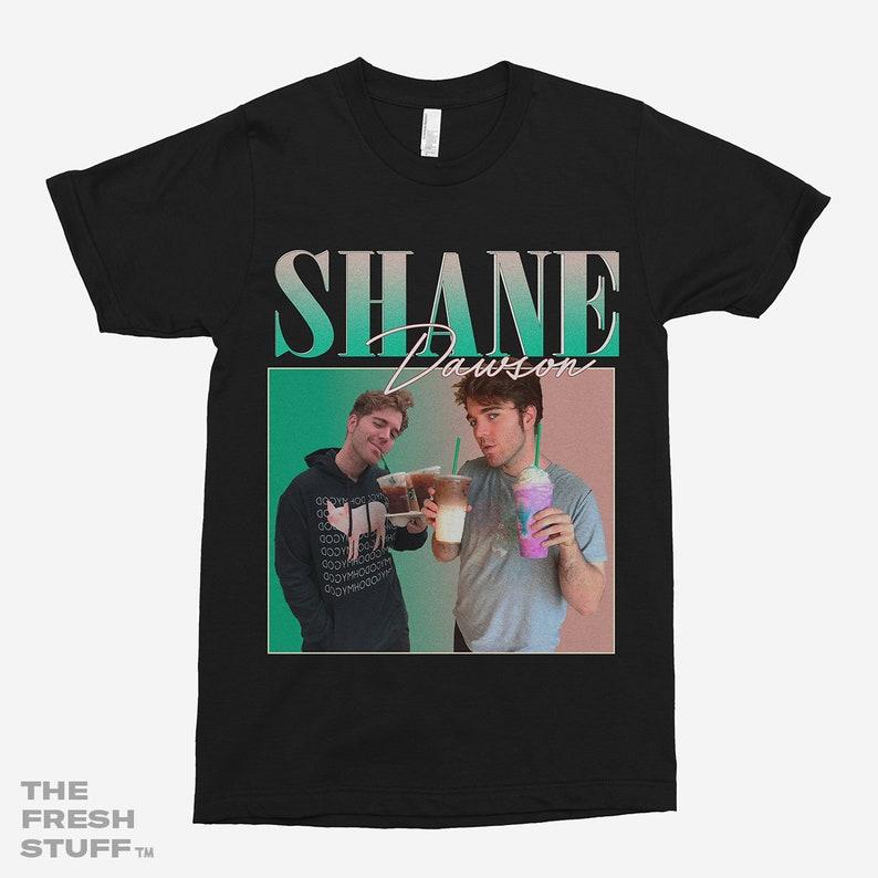 57ced60d0 Shane Dawson 90s Vintage Black T-Shirt | Etsy