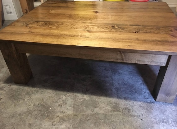 Rustic Handcrafted Coffee Table Rustic Stain Etsy