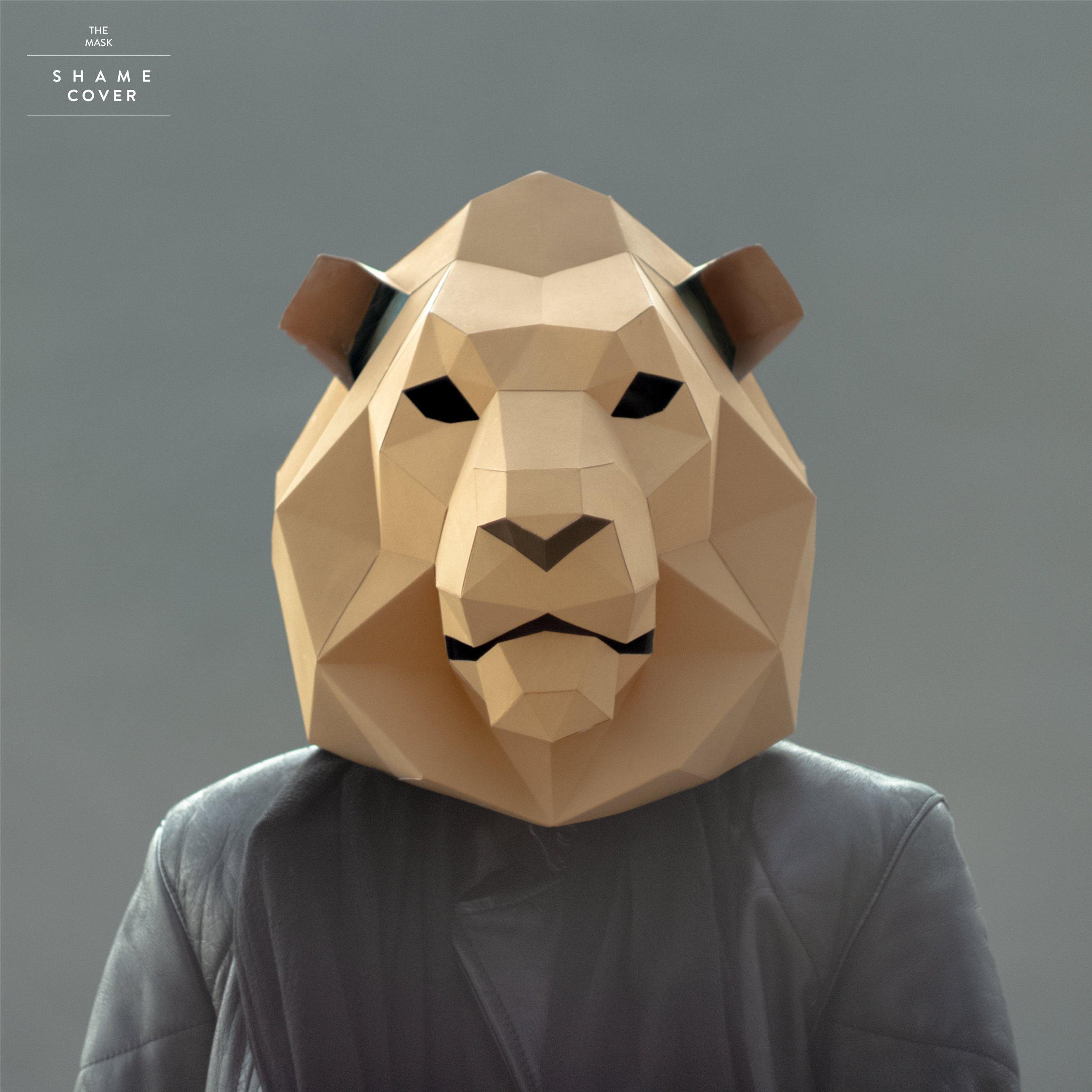 Lion Mask,Cat Mask,DIY 3D mask,PDF,Polygon Paper  Mask,Template,Printable,Animal,Pattern mask,Low Poly,Papercraft  Mask,Costume,Halloween