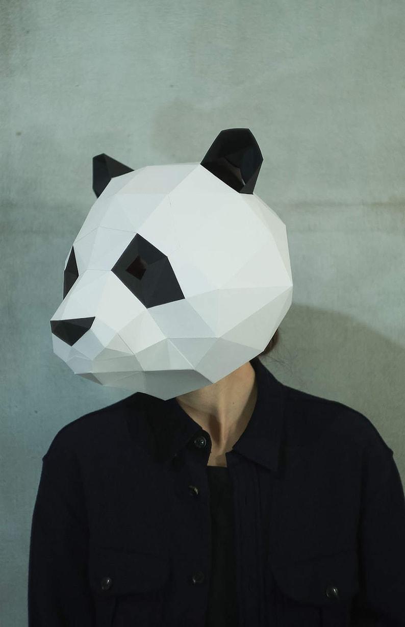 Image: Panda Origami Face