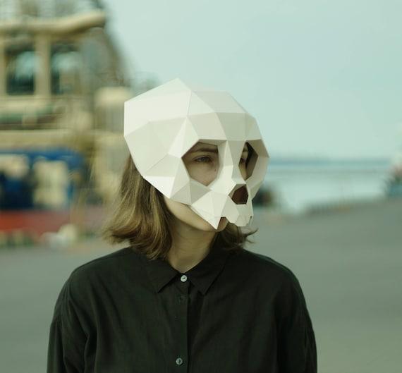 monkey skull maskape mask3d maskpolygon maskdiy etsy