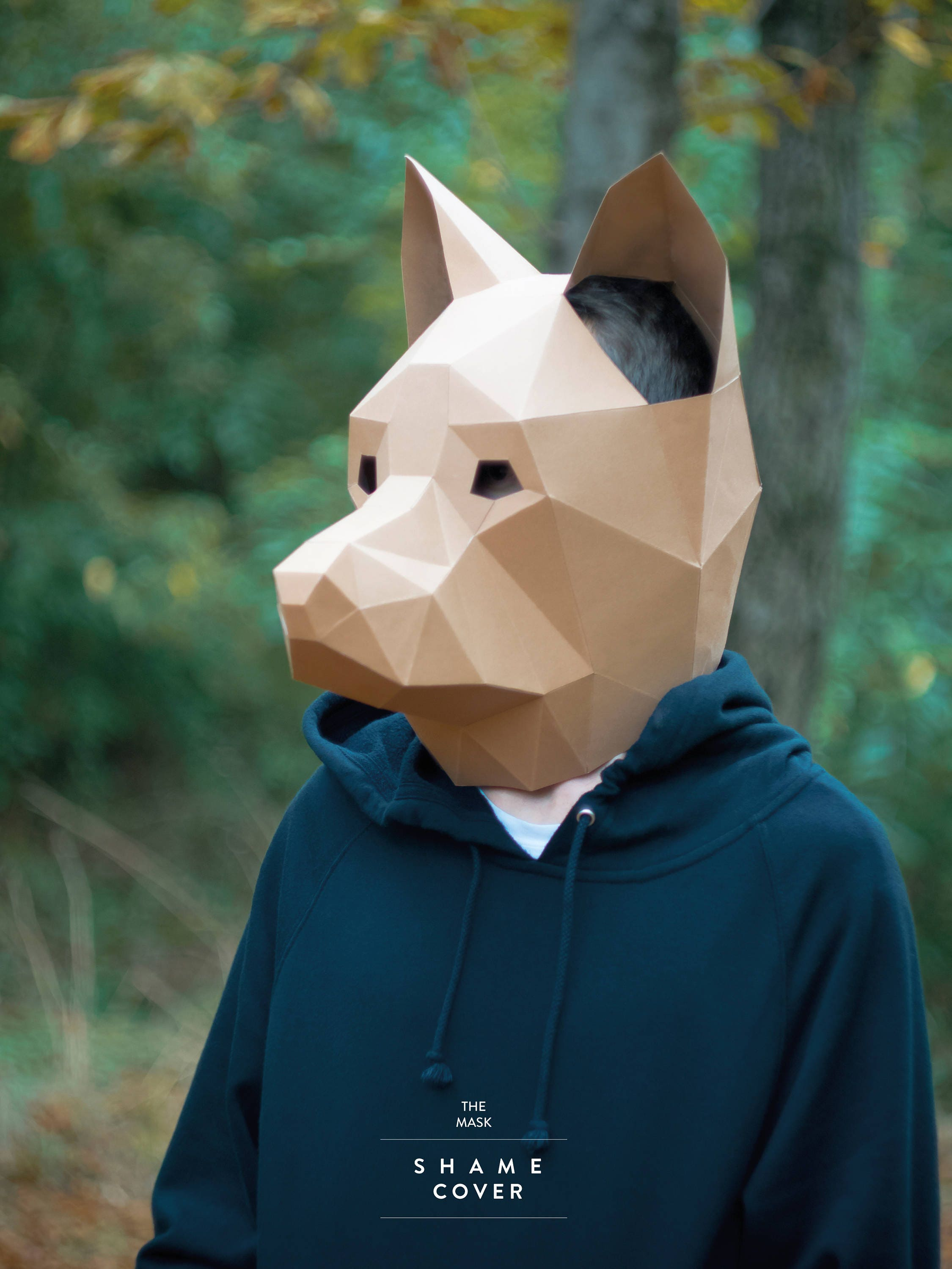 Diy Matching Face Mask And Dog Bandana Boogie The Pug: Dog MaskDIY Animal HeadPdfPaper Mask3D Polygon MasksLow