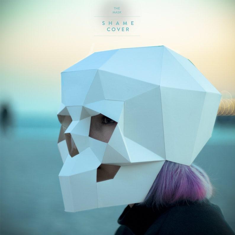 picture relating to Skeleton Costume Template Printable named Generate Skull Mask,3D mask,Encounter,PDF,Practice masks,Polygon Do-it-yourself Paper Mask,Papercraft,Template,Printable Skull,Halloween,Skeleton,Reward,Bash,Intellect