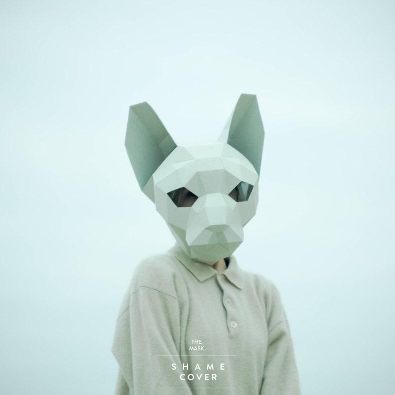 Sphynx Cat Mask DIY Animal Head Instant Pdf download Paper image 0