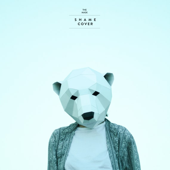 Make polar bear maskpolygon maskwhite beardiy etsy image 0 maxwellsz