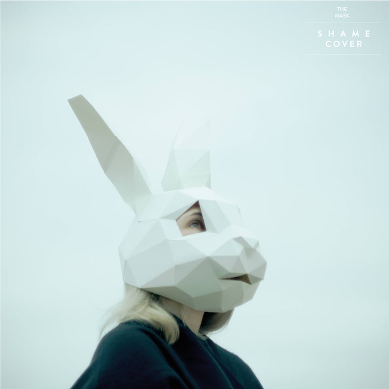 786b7a4999 Rabbit MaskBunny MaskDIY 3D maskPDFPolygon Paper