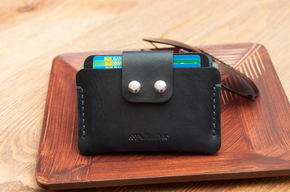 b23d5a1fdb4d9 Szczupły Portfel skórzany portfel etui skórzany portfel męski | Etsy
