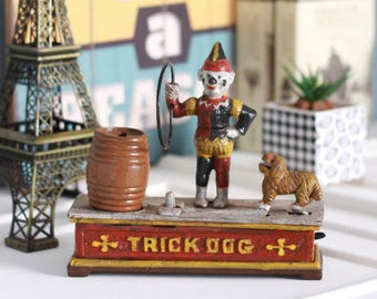 Iron Made Creative Barrale Money-Trick Dog Piggy Bank by VINIDIAN