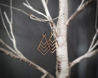 Coaxial/Nested Diamonds Earrings