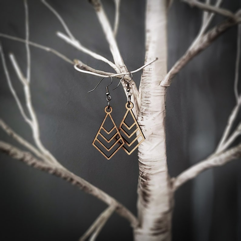Coaxial/Nested Diamonds Earrings image 0