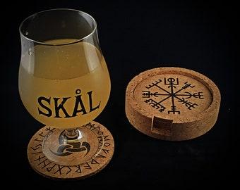 Heathen / Viking Coaster Set (Cork)