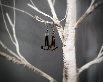 Small Open Thor's Hammer Earrings