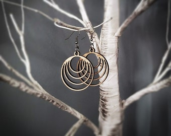 Coaxial/Nested Circles Earrings