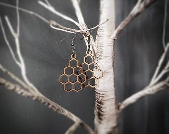 Medium Honeycomb Hexagonal Earrings
