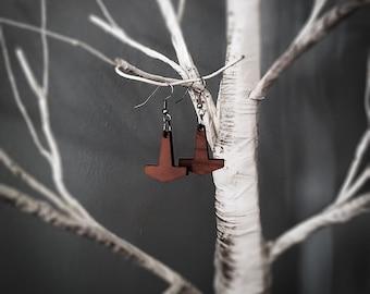 Small Thor's Hammer Earrings