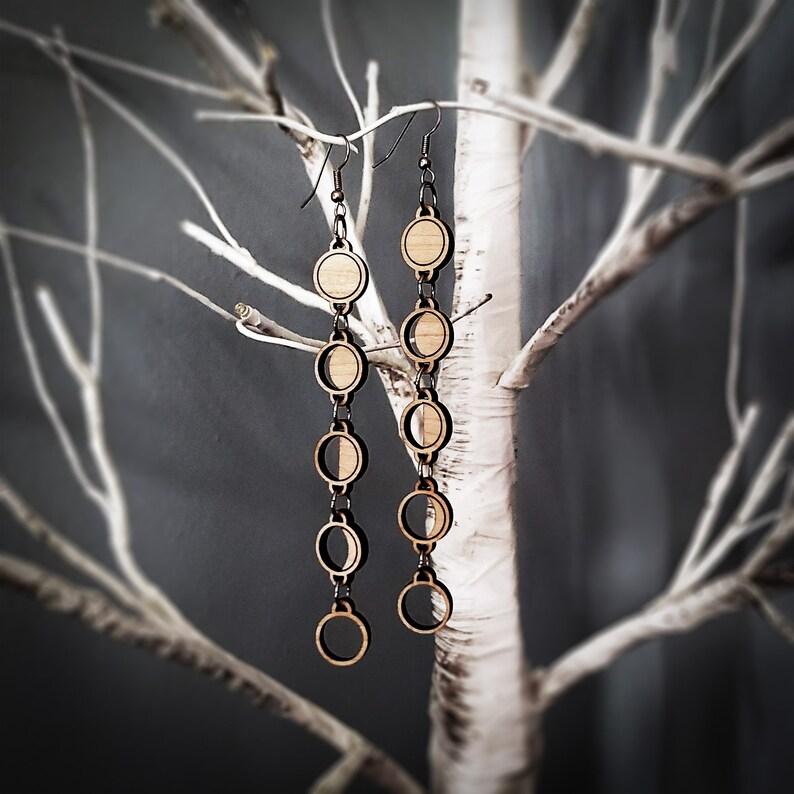 Moon Phase Dangle Earrings image 0