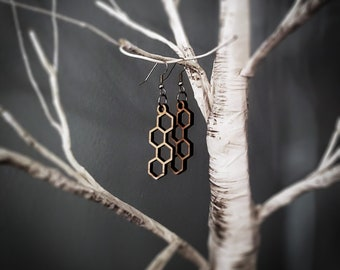 Hexagonal Column Earrings