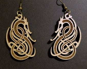 Nordic Dragon Earrings