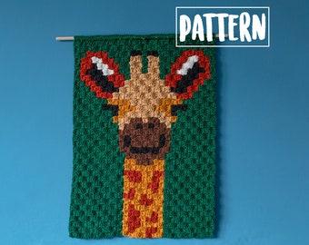 GIRAFFE C2C CROCHET PATTERN / Corner to Corner Crochet / Graphgan