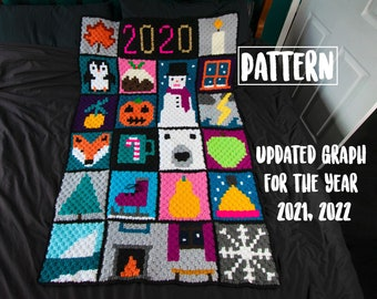 WINTER Themed C2C CROCHET Graphgan Blanket Pattern
