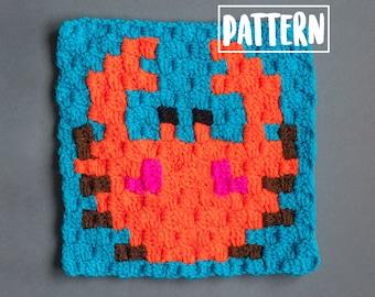 CRAB C2C CROCHET PDF Pattern | C2C Crochet Blanket | Graphgan