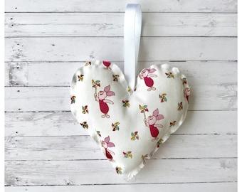 Piglet Handmade Hanging Heart
