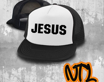 154b8eeb378 Jesus Christian Hats - Christian Trucker Cap - Jesus Cap Adjustable Strap  Back