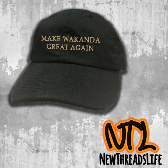Gold Make Wakanda Great Again Cap Black Panther wakanda  a76c309fc6a