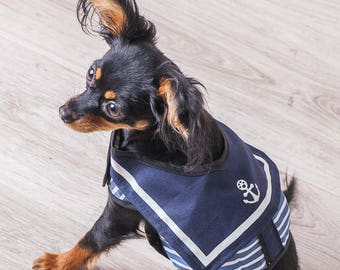 Clothing for dogs Pet clothes Clothes for small dogs Original clothes Summer clothes for pets Sailor-dog Fashionable clothes for dogs