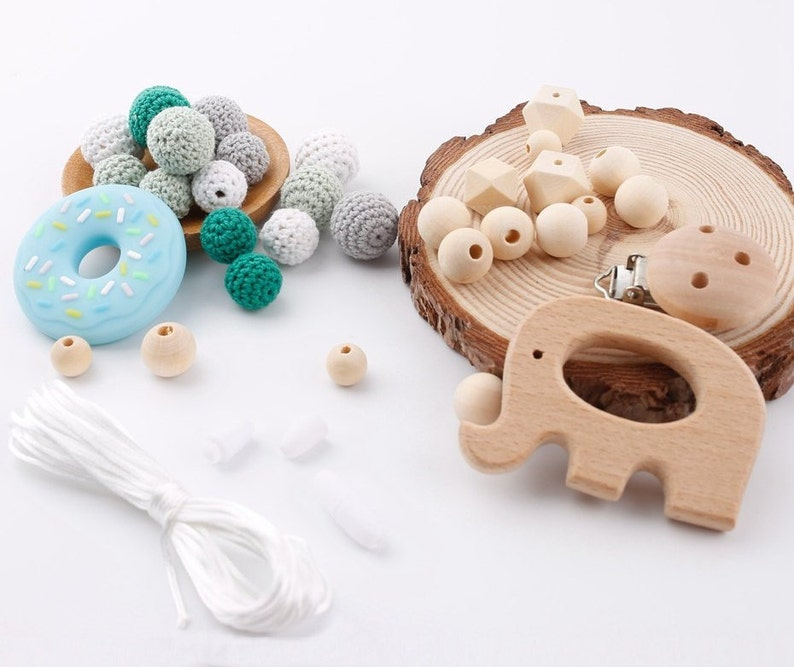 Pacifier Clip Baby Silicone Elephant Teething Toys BPA Free DIY Teether With