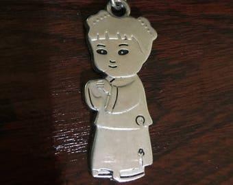 Little Chinese Girl Metal Keyring/Keychain