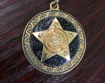 Stars And Night Sky Gold Medallion