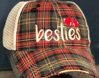 98e38a1797a Beastie Vintage Distressed Dirty Mesh Plaid Snapback Hat