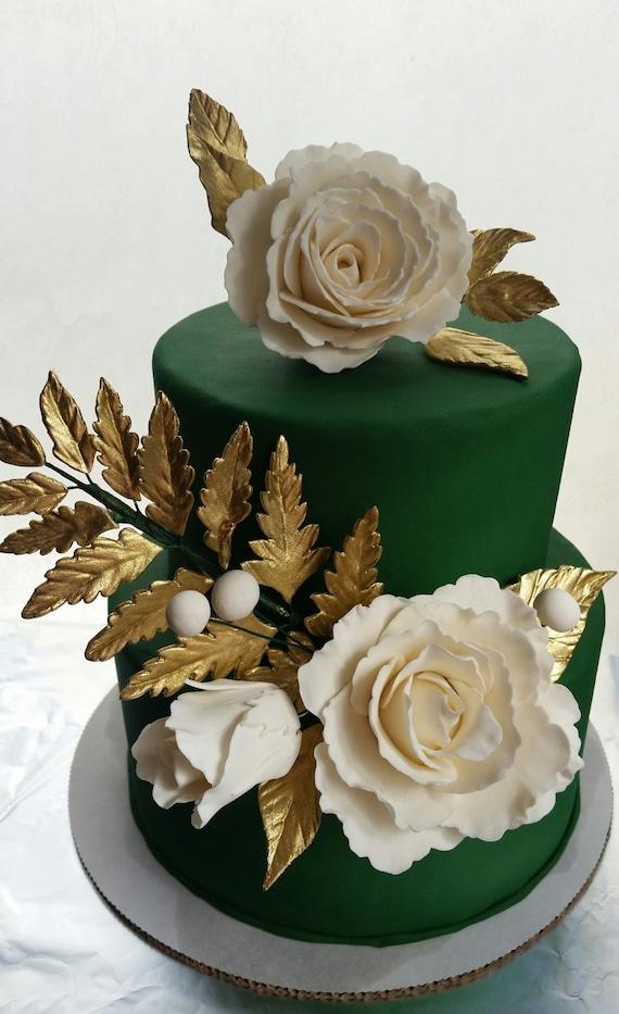 3 pièces gomme pâte Mariage//Fête Cake Topper//Décoration