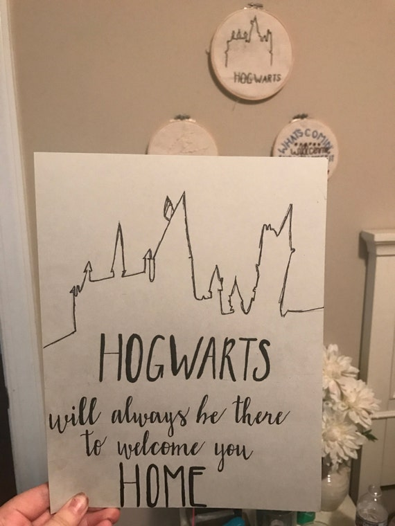 Harry Potter Quote J K Rowling Hand Lettered Calligraphy Etsy