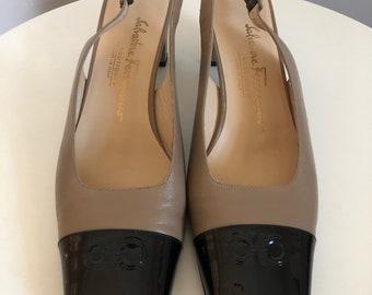 Salvatore Ferragamo logo heels