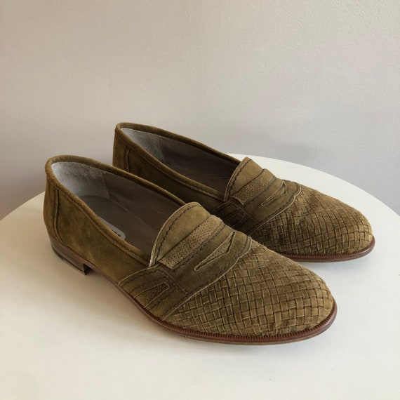 Suede Woven Bally Loafers