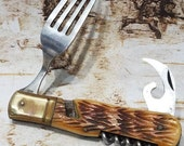 Vintage Japan Half Hobo Fork Pocket Knife