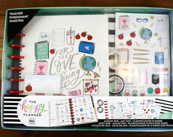 2018 - 2019 Create 365 Classic Happy Planner Box Kit - Love of Learning - Teacher, Classic Teacher Planner, Mambi Teacher Planner