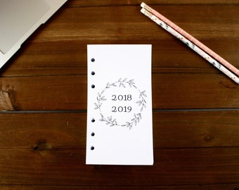 Personal Size 18 Month 2018-2019 Weekly Refills (Dated JULY 2018-DECEMBER 2019), Filofax 2018-2019 Refills,  Kate Spade 2018-2019 Refills