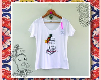 Embroidery in T-shirt, Carmen Miranda Embroidered